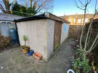 Large concrete sectional garage, automated door, good condition