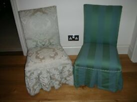 2 Parker Knoll 747 Upholstered Low Nursing Chairs.