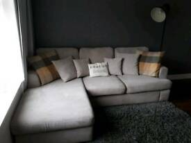 DFS 4 seater corner sofa+snuggle chair and buffet