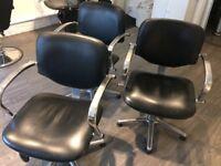 3 hair salon chairs
