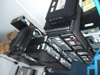 LARGE JOB LOT . COMPUTERS,MONITORS, SERVERS,PRINTERS,BAR CODEREADERS,OUT STATIONS, CUPBOARDS,