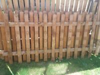 4 x fence panels 6 foot x 3 foot each