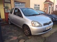 ***2000 W TOYOTA YARIS 1.3 SR AIR CON SPORTS ALLOYS***