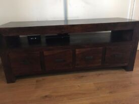 MAHOGANY SOLID WOOD TV/MEDIA UNIT