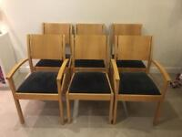 6 oak dining chairs (Barker & Stonehouse)