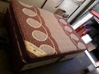 DOUBLE DIVAN BASE WITH 4 STORAGE DRAWERS, MATTRESS AND HEADBOARD FREE DELIVERY AVAILABLE