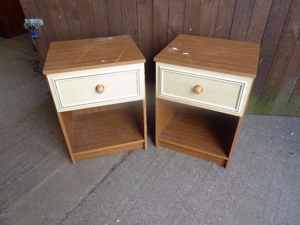 Bedside Tables single drawer matching set Delivery Available £10