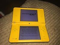 Yellow Nintendo dsi xl with box