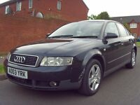 2003 03 Audi A4 1.9 TDI SE 4DR - *FSH* - HPI CLEAR - GREAT CAR - CHEAP - DIESEL - PX - LONG MOT