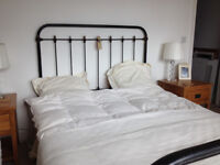 Antique iron bed head and foot