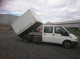 Ford transit double cab LWB Tipper Chipper 90T350 55 plate