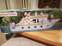 Sylvanian Families Pleasure Boat In Box Excellent Condition
