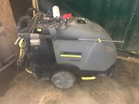 CAR WASH SETUP. Karcher hds 7/10-4 m 240v steam cleaner + karcher hover + valet machine