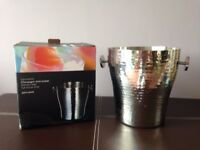 John Lewis Hammered Stainless Steel Champagne Ice Bucket