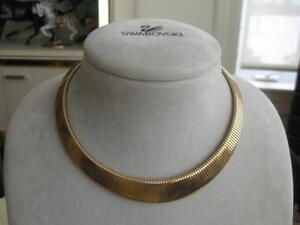 "ELEGANT VINTAGE GOLDTONE TAPERED ""PARKLANE"" [stamped] NECKLACE"