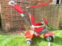 Kids (2-4yrs) tri-cycle with accessories. Very good condition