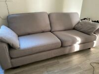 upholstered grey 3 seater sofa