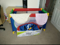 Hauck Dream and Play Go Lightweight Travel Cot and other items