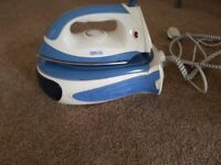 Domtec steam generator iron & extra large new ironing board