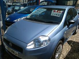 2007 fiat grande Punto 1.2 petrol only 81.000 miles 3 door hatch ideal first car full history