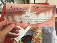 Teeth whitening gift certificate