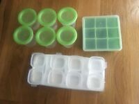 Selection of baby weaning pots