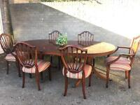 GENUINE REGENCY STYLE TABLE AND 6 CHAIRS FREE DELIVERY 🇬🇧