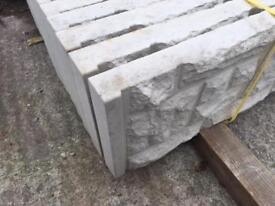 🌟Rock Face Concrete Fencing Base Panels