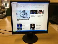 Used Flat Screen Computer Monitors Good Condition 19 and 17 inch screens