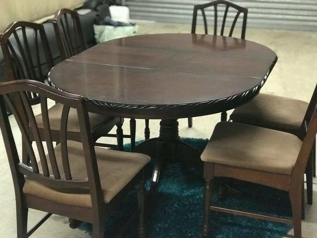 Mahogany Extendable Dining Table & 6 Chairs   in Dunmurry ...
