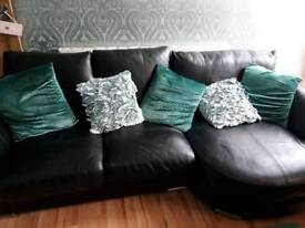 Black leather sofa great condition like new