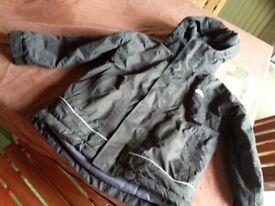 Boys black hooded Trespass coat aged 3 to 4 years