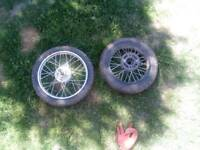 Pitbike wheels pair