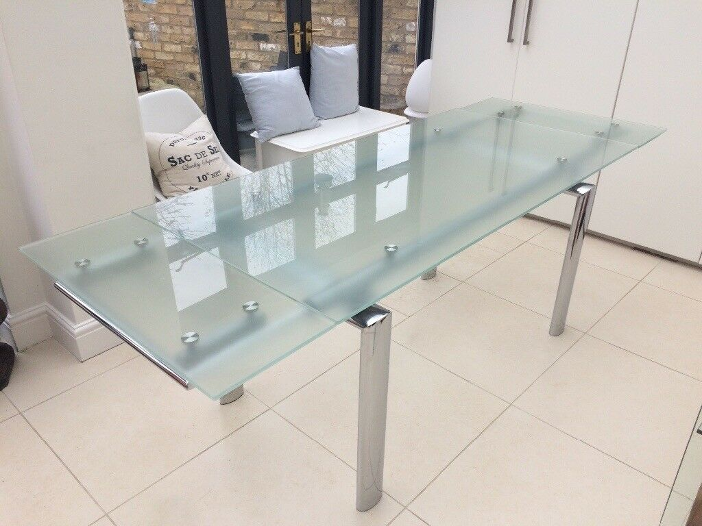 Extendable glass dining table dwell original price £799