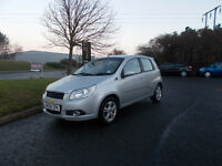 CHEVROLET AVEO LT HATCHBACK 1.4 STUNNING SILVER 2008 ONLY 54K MILES BARGAIN 1450 *LOOK* PX/DELIVERY