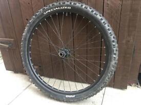 "MTB front wheel, 26"" £10"