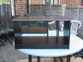 Black ash TV stand in good condition