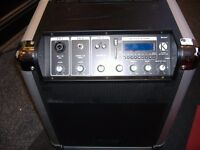 KINSMAN KPA08 FULLY PORTABLE PA SYSTEM WITH INTEGRAL 6HOUR RECHARGEABLE BATTERY