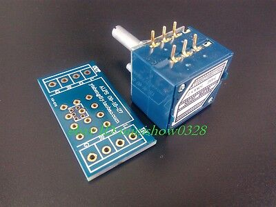 Japan Alps Volume Control 27 Type Dual Potentiometer 100k Rk27 Round Shaft Pcb