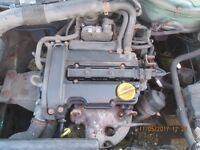 Vauxhall Corsa 1.0 Twinport Complete Engine from a 2005 93K