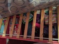 Girls pink princess bed