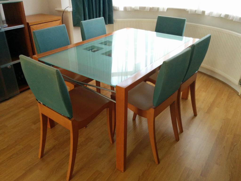 Ligne Roset Extensia Dining Table and 6 Finn Chairs | in Harrow ...