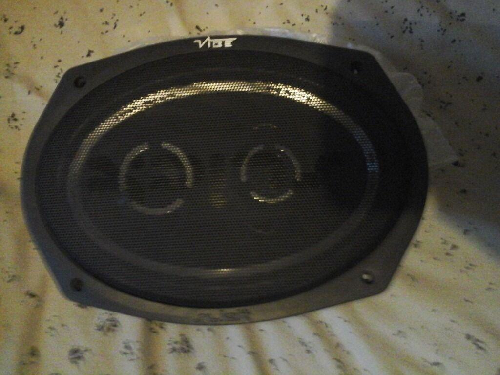 Vibe slick speakers brandnew in box , 80 pound new from halfords