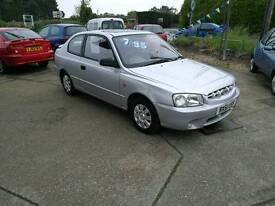 Hyundai Accent 1,3 2 owners VGC FullMOTserviceCambelt+Warranty all inc, Proper garage, est1985