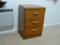 Three small chests of drawers/bedside tables