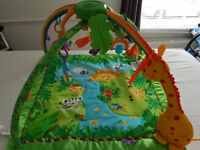 Fisher-Price Rainforest Jungle Melodies & Lights Deluxe Baby Gym Mat