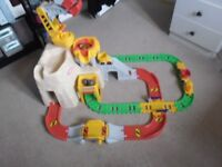 LITTLE TYKES BIG ADVENTURE CONSTRUCTION PEAK RAIL AND ROAD TRAIN SET