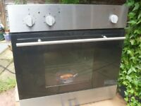 Cata - plug in, built in Fan Assisted oven standard 600 m/m stainless steel.