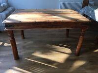 Beautiful Sheesham Wood dining table - 135cm long