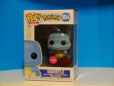 Funko Pop! GAMES Pokemon Squirtle Flocked #504 NMIB + Protector